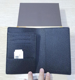 Wholesale Orange Checking - Men genuine leather passport cover wallet women luxury credit card holder men business card holder travel wallet porte carte carteira 181H