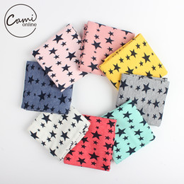 Wholesale- Kids Boy Girl Star Print Bibs Children Cotton Neck Scarves Shawl Unisex Baby Autumn Winter Knitting Kerchief Scarf Deals