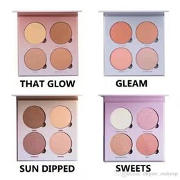 Wholesale Face Powder Highlight - High quality! Bronzers &Highlight Kit Makeup Face Powder Blusher Palette GLEAM THAT GLOW Sweets SUN DIPPED Free shipping