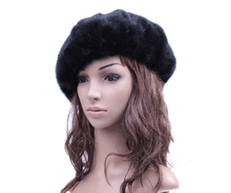 Wholesale French Beret Men - Wholesale-Wholesale French Beret Hat Female Real  Hat Fashion Hat Brand Women Winter Warm Black Hats Solid Color