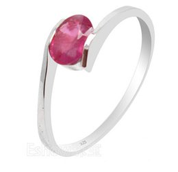 Wholesale Natural 925 Sterling Ring - 100% natural genuine ruby gemestone fashionable silver ring 925 Solid Sterling Silver ruby wedding ring best gift for girl