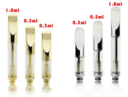 Wholesale Pyrex glass cartridge Golden cartridge CE3 atomizer vaporizer pen cartridges dual coil a3 for thick fit touch battery