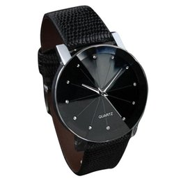 Wholesale Ni Steel - Best Mens Watches Luxury Brand 2016 Faux Leather Stainless Steel Dial Quartz Watch Men Sports Wrist Watch Male Hours Montre #Ni