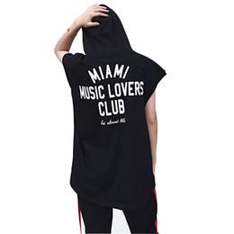 Wholesale Long Tank Vest Shirt Tops - Oversize Men Hooded Tank Vest Fashion Casual Sleeveless Tee Shirt Male Hip Hop Ribbon Splice Loose Tops Tank T-shirt