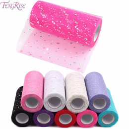 Wholesale Crafting Materials - Fabric Patchwork 25 yards Tulle Roll Sewing Accessories Textile Sequin Tutu Crafts Material Cheap Organza Cloth