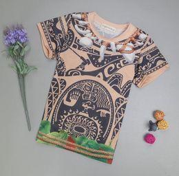 Wholesale Boys Pyjamas - Kids Clothing Set Moana Maui Short Tshirt Pants 2Pcs Pajamas Set 7Designs Boys Summer Pyjamas Outfit Sets Children Clothing Set