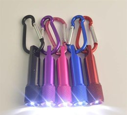 Torcia a LED Mini torcia in lega di alluminio con moschettone Anello Portachiavi Mini torcia a LED Torcia Mini torce a LED da decorazioni di natale chiaro della corda fornitori