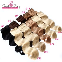 Wholesale Human Hair 33 - Grade 8A 3pcs lot 100% Brazilian Human Hair Weft Weave Body Wave More Colors 2#,4#,6#,12#,27#,30#,33#,60# Hair Extensions Free Shipping