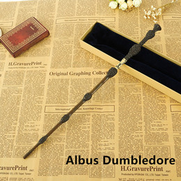Wholesale Harry Potter Dumbledore Wand - Creative Cosplay 17 Styles Hogwarts Harry Potter Series Magic Wand New Upgrade Resin with Metal Core #04 Albus Dumbledore Magical Wand