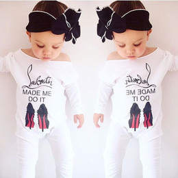 Wholesale Wholesale Clothes Heel - Hug Me Baby Jumpsuits Toddler Girls Clothing 2017 Spring Print High-heeled Shoes Fashion Long Sleeve Cotton Jumpsuits EC-259