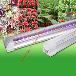 Wholesale T8 Led Light Tube Red - T8 LED Grow Tube 4ft 1.2M 12.7W 18W Good Yield Plant Grow Reasonable Proportion of Red and Blue Light Red and Blue for Indoor Plant Growth