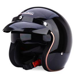 Wholesale Helmet Standard - Wholesale- JIEKAI Universal Motorcycle Helmet DOT Standard Open Face Cold Protection Safe Riding Scooter Headpiece with Visor L XL Choose