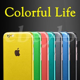 Wholesale Stickers For Iphone Wholesale - Full Body Sticker Film Apple Brush Ice Stickers Front Back Cover Protective For Iphone 7 6 6S Plus Skin Colorful With Retail Package