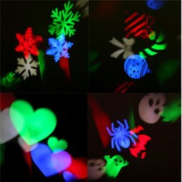 Wholesale Led Landscape Projection - Party Projector Lights, YTE Rotating Projection LED Lights Snowflake Spotlight, 7PCS Pattern Lens Xmas Multicolor Waterproof Landscape ligh