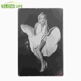 """Wholesale Marilyn Monroe Wholesale Posters - Marilyn Monroe Seven Year Itch Vintage Home Decor Tin Sign 8""""x12"""" Cafe Pub Garage Wall Decorative Metal Sign Retro Metal Poster 20170408#"""