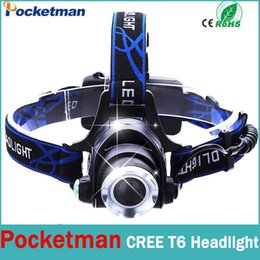Wholesale Lampe High Power Led - Wholesale-High Power CREE XML-T6 2000 Lumens Head lamp LED headlamp Waterproof Zoomable lampe frontale Headlight