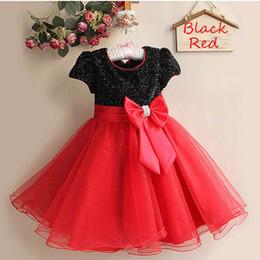 Wholesale Elegant Baby Bows - Retail Girls Princess Dresses Bow Elegant dress party baby girl Wedding dress Children clothing 2-8 Years 1272