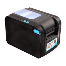 Wholesale barcode printer thermal - Wholesale- XP-370B label barcode printer thermal label printer 20mm to 80mm thermal barcode printer