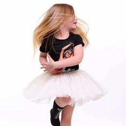 Wholesale Bubble Ruffled Dress - Fashion New Ballet Girl Dress Children Clothing Girls Dresses Dance Lace Tutu Bubble Dress Black Summer Baby Romper Girl Party Dress A6654