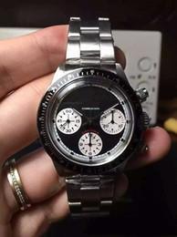 Часы онлайн-37 мм PAUL NEWMAN 6239 PN винтаж хронограф chrono функция экзотические циферблаты механические ручной подзавод мужские часы номер модели / Ref.6239 наручные часы