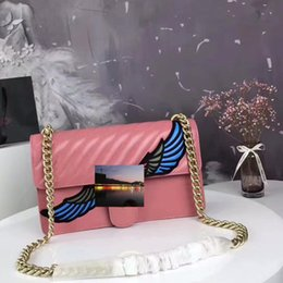 Wholesale Embroidered Flower Bag - Italian women shoulder bag embroidered female package size: 27 * 17 * 7 pink black black flower 3 colors high quality free shipping