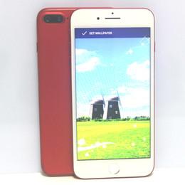 "Wholesale Hd Tv Screens - New Red Goophone i7 Plus Quad Core MTK6580 Android 6.0 1GB RAM 4GB ROM 960*540 5.5 ""HD 8MP 3G WCDMA Smartphone"