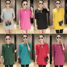 Wholesale Knitted Dresses Wholesale - Europe Autumn Clothing Women Girls Knitted Mini Dress Plus Size Long Sleeve Solid Dresses Knitting Wool Clothes Gift
