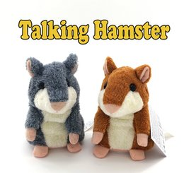 Wholesale Toy Speaking Hamster Wholesale - Talking Hamster Cartoon Plush Toy Soft Stuffed Animals Anime Baby Cute Speak Talking Sound Record Lovely Talking Hamster Repeats for gifts