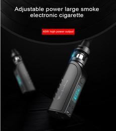 Wholesale High Capacity Power - Adjustable Pressure Electronic Cigarette Sets 40W High Power MOD Vape Pen Kits Met Atomizer Tank 18650 Battery Capacity 2200mah Hot A162-1
