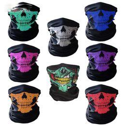 Wholesale Cycling Skull Ski Mask - Skull Face Mask Halloween Skull Face Mask Outdoor Sports Warm Ski Caps Cycling Motorcycle Face Mask Scarf
