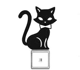 Wholesale Police Cup - Police cat kitten lovely switch laptop cup family Wall stickers decoration decor home decals fashion waterproof bedroom living sofa