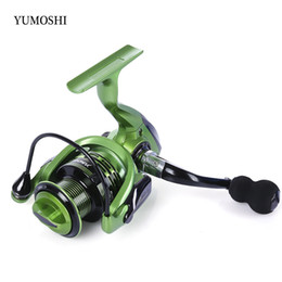 Wholesale Metal Gear Series - Original YUMOSHI 13 + 1BB Metal 4.7:1 5.5:1 Gear Ratio Spinning Reel Fishing Tackle with Foldable Handle Fishing Reel +B