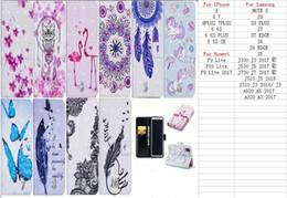 перья фламинго Скидка 3D кожаный бумажник чехол для Galaxy S9 Примечание 8 S8 плюс S7 (J7 J5 J3)2017 ЕС A5 2018 цветок фламинго Сова кружева слот для карты сумка бабочка перо