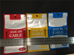 Wholesale Bags For Cables - Good Quality USB Cable Zipper Zip Lock Plastic Retail Package Bag For Aux Audio USB data Cable Smartphone MP3 Aux USB Zipper Bag