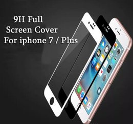 Wholesale Soft Bags For Glasses - For iPhone 6 6S 7 Plus Explosion-proof Soft Edge 3D Carbon Fiber Tempered Glass Film Full Screen Protector Guard with EPE Bag