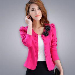 Wholesale Double Breasted Shorts - Wholesale- spring autumn women Jacket coat fashion Basic Jackets female blaser slim short suits women coats