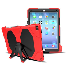 Wholesale Tough Ipad Cases - Military Heavy Duty ShockProof Rugged Impact Hybrid Tough Armor Case For IPAD 2 3 4 AIR 1 AIR 2 PRO 9.7 IPAD 2017 9.7 PRO 10.5 20pcs lot