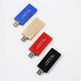 Wholesale Compact Aluminum - Compact USB 3.0 USB3.0 to M.2 NGFF B Key SSD 2230 2242 Adapter Card Converter Enclosure Case Cover Box