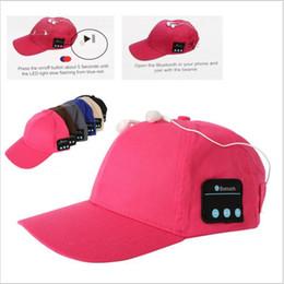 Wholesale Music Baseball - Bluetooth music earphone hat outdoor baseball earphones cap wireless Bluetooth headset with speaker 6 Colors 100 PCS YYA574