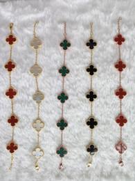 Wholesale White Gold Korea - Korea Clover streaky bracelet S925 sterling silver jewelry hypoallergenic not fade fine silver chain bracelet jewelry