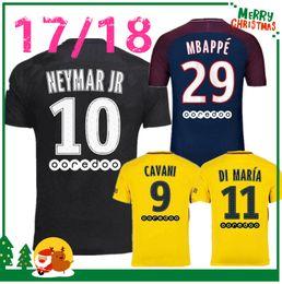 Wholesale Soccer Sports Jerseys - 17 18 NEYMAR JR MBAPPE shirt T SILVA CAVANI DI MARIA PASTORE Verratti 2017 2018 neymar jr jersey sports DANI ALVES football soccer jerseys