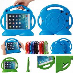 Wholesale Ipad Train Case - 3D Cartoon Thomas Train Children Handle Cover EVA Soft Foam Shockproof Stand Holder Case for iPad 2 3 4 5 6 mini