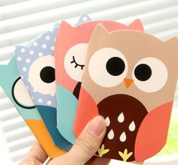 Wholesale cartoon notebook paper - Wholesale- 1Pcs Set Korean Cartoon Creative Stationery Notepad Office Supplies School Cute Cartoon Owl Filofax Notebook Diary Students