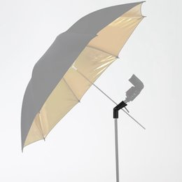 "Wholesale Universal Flash Bracket - H-type Bracket Speedlite Mount  Camera Flash Umbrella Holder Bracket Universal For Canon Nikon Mount 1 4"" 3 8 light stand tripod"