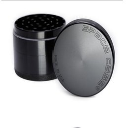 Wholesale Aluminium Alloy Material - Space Case Grinders 63mm Herb Grinder 4 Piece Tobacco Grinders With Triangle Scraper Aluminium Alloy Material Herb Crusher