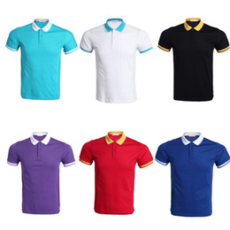 Wholesale Womens Orange Shirts - Polo Shirt for Men Desiger Polos Men Cotton T Shirt With Short Sleeve Mens Womens Work Clothes Plus Size M- XXXL ZL3333
