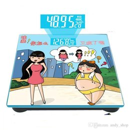 Wholesale Digital Bathroom Body Fat Scale - 2016 Quality 180KG*10G Household Human Body Bathroom Scale Electronic Health Fat Weighing Machine Precision Cartoon Balance