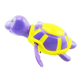 Wholesale Wind Up Turtles - Wholesale- Essential Random Color New born babies swim turtle wound-up chain small animal Baby Children bath toy classic toys 023