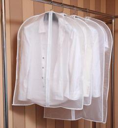 Wholesale Clean Dress Suit - Cloth Dustproof Cover Garment Organizer Suit Dress Jacket Clothes Protector Pouch Travel Storage Bag With Zipper wn255