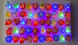 Wholesale Led Christmas Trees Cheap - DHL Free Shipping Cheap Christmas LED Rings Santa Claus Rings Christmas Tree Rings Toy Rings